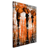 Orange Portrait oil painting of umbrellas with a variety of colours By Leonid Afremov Oil Painting Re-printed on Framed Canvas Wall Art Prints Home Decoration Pictures Room Deco Photo-3D