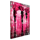 Pink Portrait oil painting of umbrellas with a variety of colours By Leonid Afremov Oil Painting Re-printed on Framed Canvas Wall Art Prints Home Decoration Pictures Room Deco Photo-3D