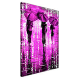 Purple Portrait oil painting of umbrellas with a variety of colours By Leonid Afremov Oil Painting Re-printed on Framed Canvas Wall Art Prints Home Decoration Pictures Room Deco Photo-3D