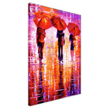 Purple and red Portrait oil painting of umbrellas with a variety of colours By Leonid Afremov Oil Painting Re-printed on Framed Canvas Wall Art Prints Home Decoration Pictures Room Deco Photo-3D