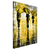 Yellow Portrait oil painting of umbrellas with a variety of colours By Leonid Afremov Oil Painting Re-printed on Framed Canvas Wall Art Prints Home Decoration Pictures Room Deco Photo-3D