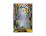 Autumn Fog By Leonid Afremov Oil Painting Re-printed on Framed Canvas Wall Art Prints Home Decoration Pictures Room Deco Photo-Front