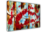 Abstract Cherry Tree on Framed Canvas Wall Art Prints Floral Pictures Home Decoration Room Deco Poster Photo Artwork-3D