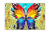 Colourful Abstract Butterfly on Framed Canvas Wall Art Prints Room Deco Poster Photo Landscape Pictures Home Decoration Artwork-Front