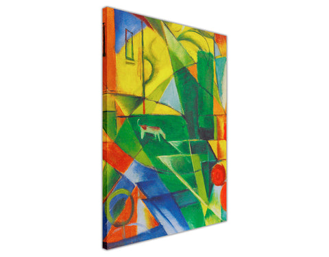Abstract Colourful Farm Oil Painting Re-printed on Framed Canvas Wall Art Prints Home Decoration Pictures Room Deco Photo-3D