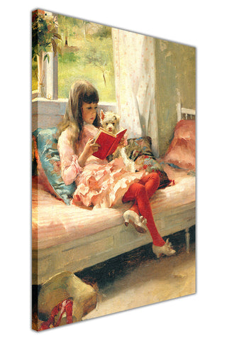 Good Friends By Albert Edelfelt Canvas Wall Print Famous Artwork For Livingroom Bedroom Office Art Pictures Framed