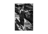 Black and White Audrey Hepburn Breakfast At Tiffanys On Framed Canvas Wall Art Pictures