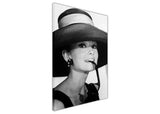 Black and White Audrey Hepburn with Sunglasses Framed Canvas Wall Art Prints