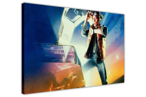 Iconic Back To The Future McFly Movie Poster on Framed Canvas Wall Art Prints Movie Pictures TV photos Home Decoration Room Deco Posters-3D