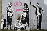 Old School Grannies by Banksy on Framed Canvas Wall Art Prints Room Deco Poster Photo Landscape Pictures Home Decoration Artwork-Front