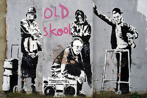 Old School Grannies by Banksy on Framed Canvas Wall Art Prints Room ...
