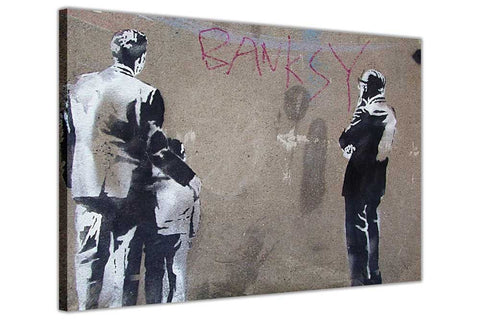 Banksy Art Critic on Framed Canvas Wall Art Prints Room Deco Poster Photo Landscape Pictures Home Decoration Artwork-3D