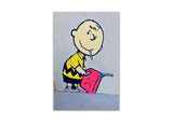 Iconic Banksy Charlie Brown Framed Canvas Pictures Wall Art Prints Front