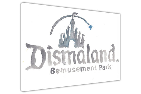 Banksy Dismaland Logo Canvas Prints Wall Art