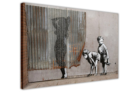 Banksy Dismaland Kid Exposed Canvas Prints