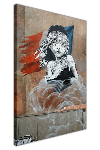 Banksy Does Les Miserables Poster on Framed Canvas Wall Art Prints Room Deco Poster Photo Landscape Pictures Home Decoration Artwork-3D