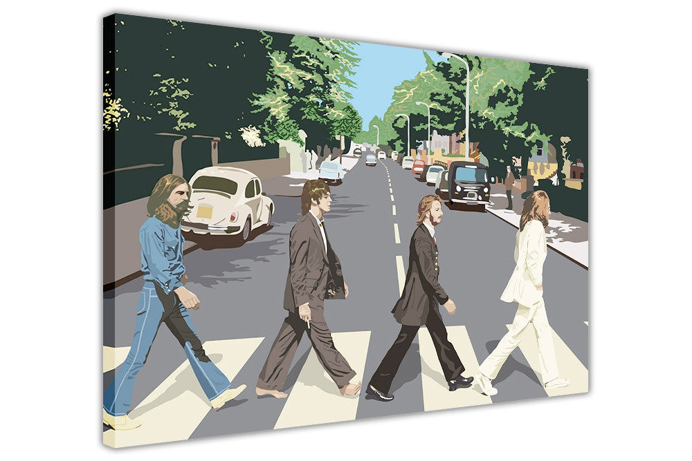 Pop art the beatles abbey road album cover on canvas wall art prints framed pictures home