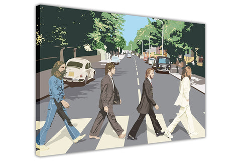 Pop Art The Beatles Abbey Road Album Cover on Canvas Wall Art Prints Framed Pictures Home Decoration Celebrity Photos Room Deco Famous People-3D