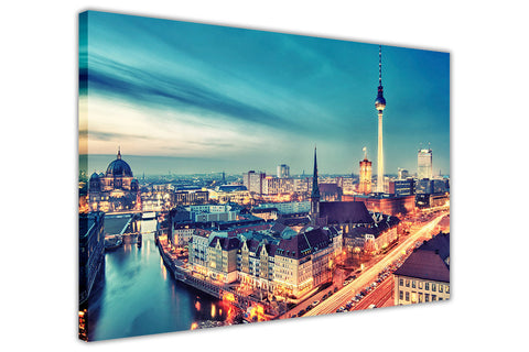 Berlin Germany City View Canvas Pictures Wall Art Prints Home Deco Modern Art-3D