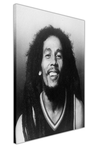 Iconic Black and White Bob Marley Photo on Framed Canvas Wall Art Prints Pictures Celebrity Images Famous People-3D