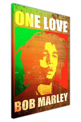 Pop Art Bob Marley Poster on Framed Canvas Wall Art Prints Pictures Celebrity Images Famous People-3D