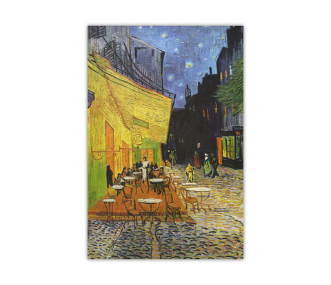 Cafe at Night by Vincent Van Gogh on Framed Canvas Wall Art Prints Home Decoration Pictures Room Deco Photo-3D
