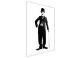 Iconic Charlie Chaplin Poster On Framed Canvas Wall Art Prints Black And White Pictures