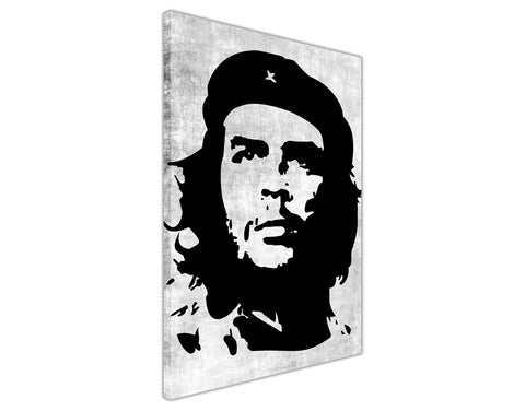 Black Iconic Che Guevara Silhouette on Framed Canvas Wall Art Prints Room Deco Poster Photo Landscape Pictures Home Decoration Artwork-3D