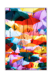 Colourful Umbrellas on Framed Canvas Wall Art Prints Home Decoration Pictures Room Deco Photo-Front