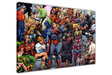 Artist Painting DC Superheroes on Framed Canvas Wall Art Prints Room Deco Poster Photo Comic Pictures Home Decoration Artwork-3D
