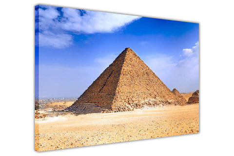 Iconic Egypt Pyramids On Canvas Prints Wall Art Photo Home Deco Framed Pictures-3D