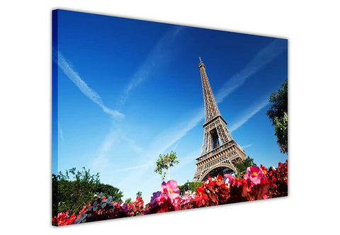 Eiffel Tower on Framed Canvas Wall Art Prints Pictures City Images Landmarks-3D