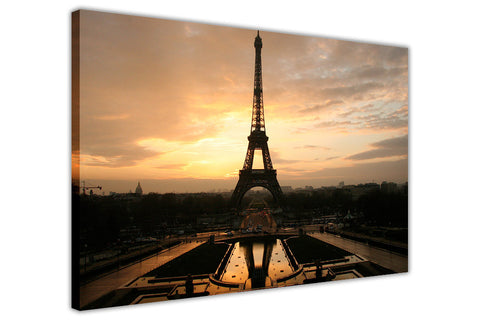 Iconic Eiffel Tower At Dawn Paris Canvas Wall Pictures Modern Art Framed Pictures-3D