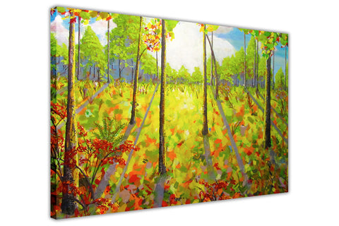 Green Forest Oil Painting Re-printed on Framed Canvas Wall Art Prints Home Decoration Pictures Room Deco Photo-3D