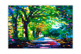 Forest Path Oil Painting Re-printed on Framed Canvas Wall Art Prints Home Decoration Pictures Room Deco Photo-Front