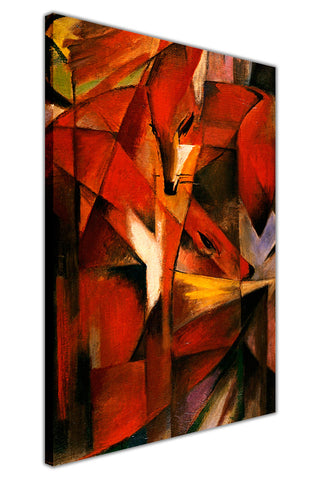 The Foxes by Franz Marc Canvas Wall Print Famous Artwork For Livingroom Bedroom Office Art Pictures Framed
