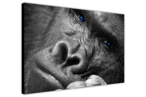 Gorilla Thinking on Framed Canvas Wall Art Prints Room Deco Poster Photo Landscape Pictures Home Decoration Artwork-3D