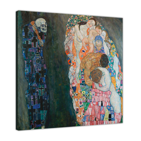 Life and Death By Gustav Klmt Canvas Wall Print Famous Artwork For Livingroom Bedroom Office Art Pictures Framed