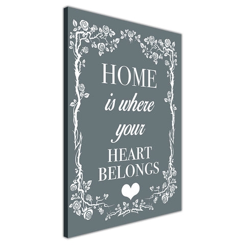 Blue Colour Home Welcoming Quote on Framed Canvas Wall Art Prints Room Deco Poster Photo Landscape Pictures Home Decoration Artwork-3D