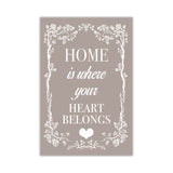 Latte Colour Home Welcoming Quote on Framed Canvas Wall Art Prints Room Deco Poster Photo Landscape Pictures Home Decoration Artwork-Front