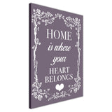Purple Colour Home Welcoming Quote on Framed Canvas Wall Art Prints Room Deco Poster Photo Landscape Pictures Home Decoration Artwork-3D