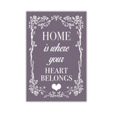 Purple Colour Home Welcoming Quote on Framed Canvas Wall Art Prints Room Deco Poster Photo Landscape Pictures Home Decoration Artwork-Front