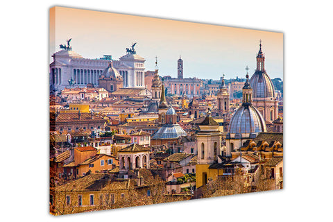 Italy Rome Roof Top City View Images Framed Canvas Print Wall Art Pictures Home Deco-3D