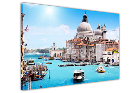 Italy Venice River Photos Framed Canvas Wall Art Picture Home Decoration Prints Modern Art-3D