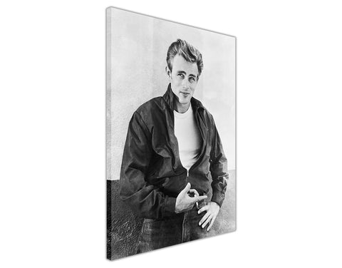 Black And White James Dean Poster Framed Canvas Wall Art Prints Hollywood Pictures