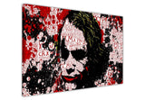 The Joker with quotes splattered with blood on Framed Canvas Wall Art Prints Movie Pictures TV photos Home Decoration Room Deco Posters-Front