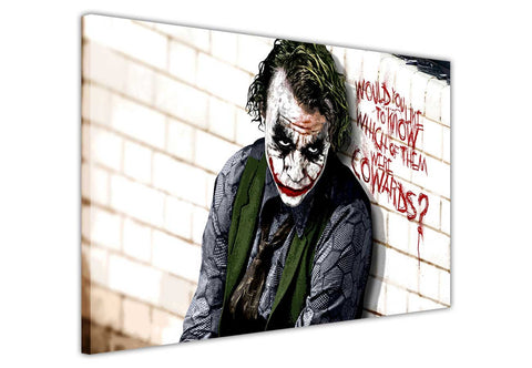 Joker Cowards Quote on Framed Canvas Wall Art Prints Movie Pictures TV photos Home Decoration Room Deco Posters-3D