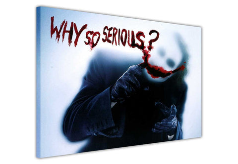 The Joker Why So Serious Quote on Framed Canvas Wall Art Prints Movie Pictures TV photos Home Decoration Room Deco Posters-3D