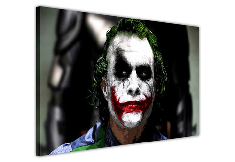 Joker from the Dark Knight on Framed Canvas Wall Art Prints Movie Pictures TV photos Home Decoration Room Deco Posters-3D