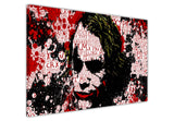 The Joker with quotes splattered with blood on Framed Canvas Wall Art Prints Movie Pictures TV photos Home Decoration Room Deco Posters-3D